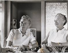 1956-Kathryn Hulme and Marie-Louise Habets Vintage Lesbian, Lesbian Love, The Nun's Story, The Ugly Truth, Abbey Road, Women In History, Lgbt History, S Stories, Social Events