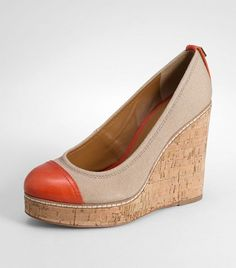 Tory Burch wedges- so comfy and would go with a lot - splash of color