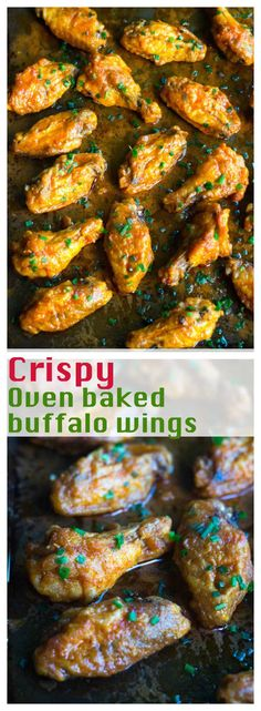 These crispy buffalo wings are made in the oven. It is super EASY and QUICK. A true crowd pleaser.