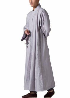 c4b53309304 ZanYing Men s Religion Buddhist Meditation Monk Robe Grey ZYS29 Buddhist  Monk Robes
