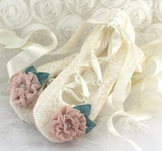 Ivory Lace Bridal Flats Ballet flats in Ivory Teal and by SolBijou