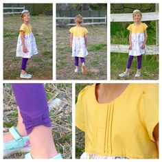 Made for Mermaids Harper tunic & Bonny capris with bow cuff hack