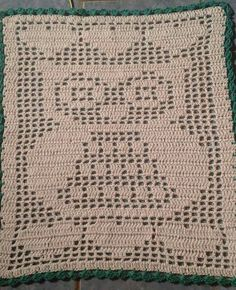Crochet Stitches Patterns, Stitch Patterns, Crochet Dollies, Filet Crochet, Knitting Projects, Doilies, Table Runners, Projects To Try, Owl
