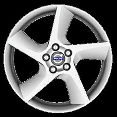 Odysseus 18 x 8 Volvo #30760064 (color 936 Bright Silver), Offset 55mm, 12.5kg, stamped 30714023