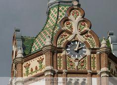 Kiskunfélegyháza – Facade of the Town Hall in Zsolnay style   Zoltán Bagyinszki photographer