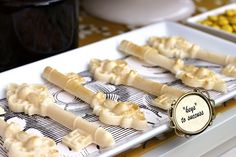 edible gold dusted white chocolate keys