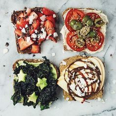 It's an #albiontastytuesday TOAST PARTY! Surprise your taste buds with these FOUR fun gourmet toast recipes brought to you by our new friend Rhiana of @rhianamygdala! Check out our blog to get the full scoop and let us know which one is your favorite! @albionfit / albionfit.com