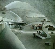 TWA Terminal design by Eero Saarinen