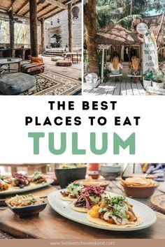 Tulum Mexico Resorts, Mexico Destinations, Best Places To Eat, Cool Places To Visit, Cozumel, Tulum Restaurants, Restaurant Guide, Tulum Beach, México City