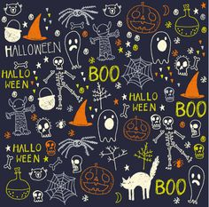 Nicola Ward rassemble ici tous les éléments ayant un lien avec l'Halloween… Nicola Ward brings together here all the elements related to Halloween. Halloween Tags, Halloween Designs, Halloween Stoff, Halloween Chalkboard, Theme Halloween, Halloween Clipart, Halloween Fabric, Halloween Prints, Halloween Patterns