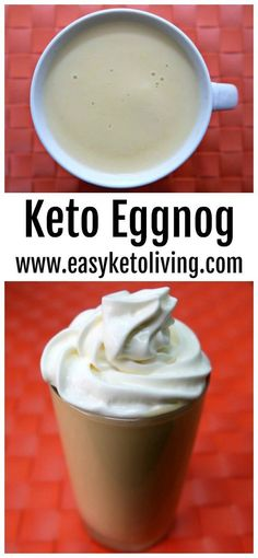 Keto Eggnog Recipe - A low carb Egg Nog Dessert that's sugar free, creamy and delicious. Only problem is that Christmas is still a few months away! #ketoeggnog