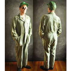 Vintage Vietnam USAF Air Force Coveralls Military by drowsySwords