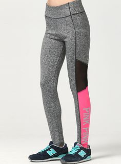 Try this leggings on. The leggings are made from 80% polyester and 20% spandex with wide waistband, skinny fit, letter printed and color block. They fit for yoga, running, sports and casual wear.