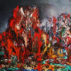 "Ghosts of The Apocalypse, Oil on Canvas 18x18"", © Copyright 2012 Alan Derwinn"