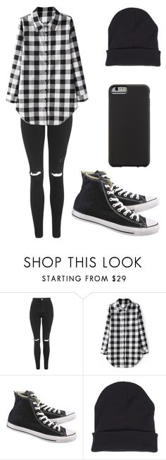 """Outfit"" by andreeadeeix12 ❤ liked on Polyvore featuring Topshop, Converse and Case-Mate"