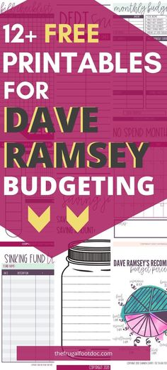 12 Free Dave Ramsey Inspired Printables to keep you motivated on your debt free journey – How To Make Money management Dave Ramsey Budgeting Worksheets, Dave Ramsey Debt Snowball, Faire Son Budget, Planners, Financial Peace, Financial Binder, Financial Tips, Budget Planer, Finance Organization