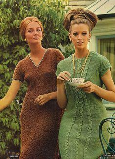 Retro sweater dresses ... love