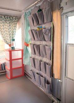 Cool camper storage hacks for rv living ideas (31)