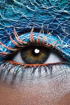 Blue Textured Eye