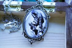 Bioshock Black and White Necklace by SecondStarEmporium on Etsy, $25.00
