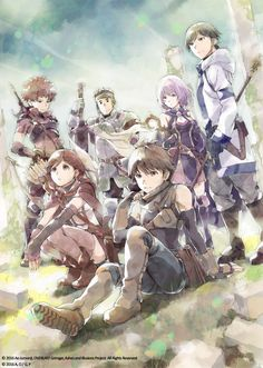 "The party from ""Grimgar of Fantasy and Ash"""