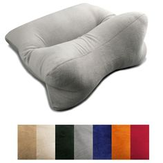 Decrease your chances of post-sleep neck pain by snoozing on this comfortable orthopedic neck pillow.