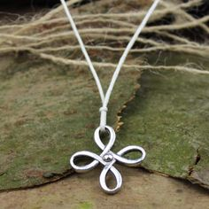 Men necklace lucky clover necklace charm necklace by menbracelet, $1.99