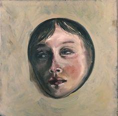 Piccolo viso nel buco  25x 25 oil on canvas  Alessandra Spigai