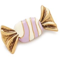 Marc Jacobs Striped Candy Brooch ($20) ❤ liked on Polyvore featuring jewelry, brooches, antique gold, marc jacobs jewelry, antique gold jewellery, marc jacobs jewellery, antique gold brooches and antique gold jewelry