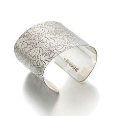Volutes Photo etched sterling silver #Cuff #Bracelet with #floral pattern by @catherinemarche @jedeco @streethub
