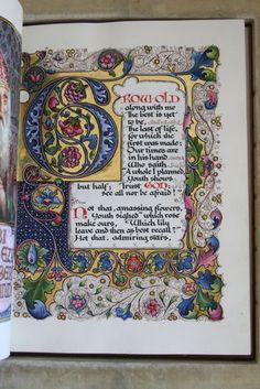"[BROWNING, Robert] [SANGORSKI, Alberto, calligrapher and illuminator.] ""Rabbi Ben Ezra."" [London: for the Grolier Society, ca. 1905-1912]. 24 cm x 18 cm. in a stunning jeweled opal binding by SANGORSKI and SUTCLIF"