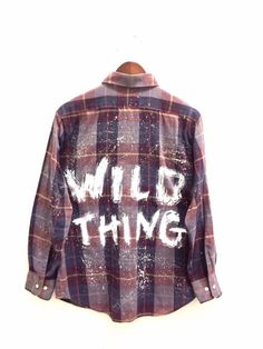 Wild Thing Shirt in Plaid, Painted + Hipster Oversized Plaid Shirts, Flannel Shirts, Oversized Tops, Flannels, Plaid Flannel, Vintage Shirts, Vintage Outfits, Vintage Tops, Purple Plaid Shirt