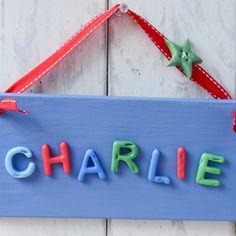 Children's Bedroom Door Sign -  Cool Blue
