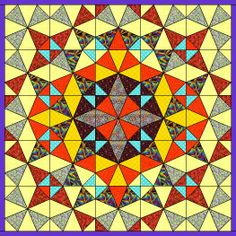 Jan Ts Patchwork School - great instructions for drafting a kaleidoscope block and links to coloring pages for planning