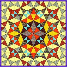 kaleidoscope quilt medallion style