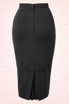 Joni Skirt in Black Bunny Pencil Skirt 120 20 14677 20150218 Long Black Pencil Skirt, High Waisted Pencil Skirt, Pencil Skirts, Black Pencil Skirt Outfit, Dress Black, Pencil Dress, Skirt Outfits, Dress Skirt, Skirt Midi