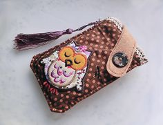 Patchworks Owl Mobile Phone Pouch-Samsung-HTC-V1 from Lily's Handmade - Desire 2 Handmade Gifts, Bags, Charms, Pouches, Cases, Purses by DaWanda.com