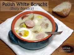 Polish White Borscht (Bialy Barszcz) from Curious Cuisiniere