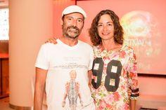 El videoartista Rob Loren y la interiorista Lina Gener en Visiónica en EL HOTEL pacha, Ibiza