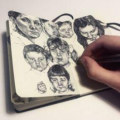 Sketchbooks art, art sketchbook e art sketches. Drawing Sketches, Pencil Drawings, Art Drawings, Drawing Ideas, Sketching, Arte Sketchbook, Sketchbook Pages, Fashion Sketchbook, Art Amour