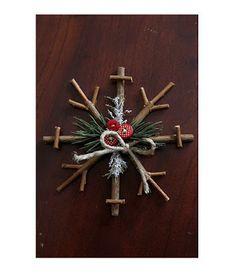 Solountip.com: Adornos navideño con ramitas de arbol