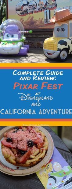 Pixar Fest is a blast this year! A food and entertainment guide to this awesome new festival at Disneyland and California Adventure. Disneyland Food, Disneyland California, Disney California Adventure, Disneyland Resort, California Vacation, Disney World Tips And Tricks, Disney Tips, Disney Food, Disney Parks
