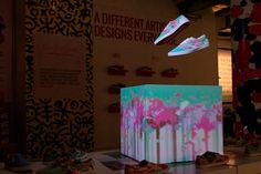White Sneakers Come To Life With Projection-Mapped Designs [Video]