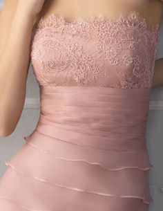 Aire Barcelona 2013 soft pink wedding dress with lace