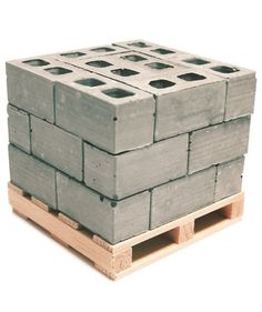 24 miniature cinder blocks arranged on a miniature pallet like you see at the big box stores. that you can place on your desk! This mini desktop cinder block pallet include Cinder Block Bench, Cinder Blocks, Pallet Building, Gift For Architect, Model Maker, Big Box Store, Model Train Layouts, 3d Prints, Classic Toys