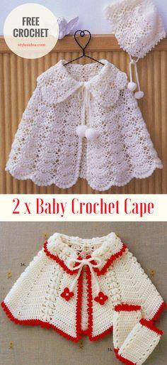 2 x Baby Crochet Cape - STYLESIDEA