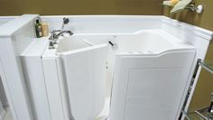 If safety and convenience are the main factors you desire in your bathroom remodel, then a Walk-In Tub is an unbeatable option if remaining in your home is important to you. We can replace your current, high-sided tub with one that has a leak-proof side door. This allows you to still enjoy a soothing soak with easier, safer access. Our Walk-In Tubs can be fully customized to your specific wants and needs with options like a built in seat, whirlpool jets and safety equipment,such as ADA grab…