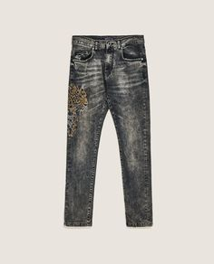 Image 6 of BEJEWELLED JEANS from Zara Zara, Denim, Model, Pants, Jackets, Outfits, Image, Fashion, Texans