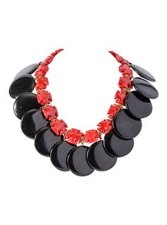 72d609a229a5 William de Lillo Glass and Bakelite Necklace. Circa late The necklace  consists of red glass Maltese crosses and black Bakelite discs.