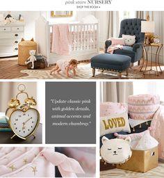 Emily & Meritt Pink Stars Nursery. What a sweet and elegant baby girl nursery.